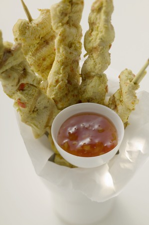 satay sauce: Spicy satay with sweet and sour chili sauce