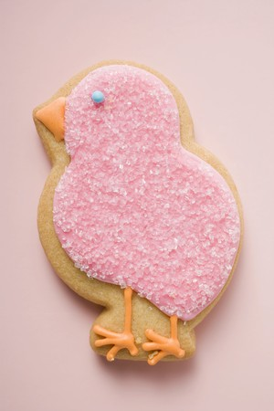 figurative: Easter biscuit (pink chick)