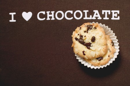 choco chips: Chocolate chip peanut cookies & the words I love chocolate