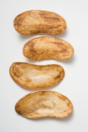 potato crisps: Four home-made potato crisps