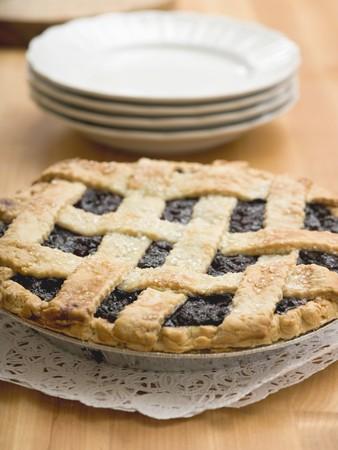 blueberry pie: Tarta de ar�ndanos con enrejado de los pasteles