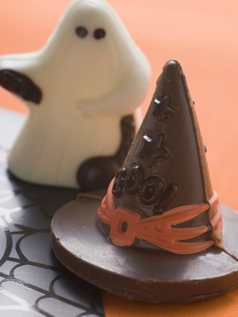 conjuror: Sweets (witchs hat, chocolate ghost) for Halloween LANG_EVOIMAGES