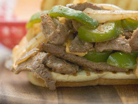ner: D�ner sandwich with green peppers LANG_EVOIMAGES