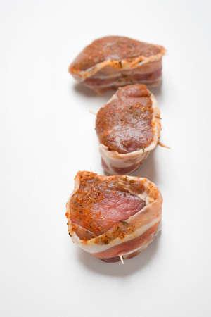 revestimientos: Solomillo de cerdo con tocino barda