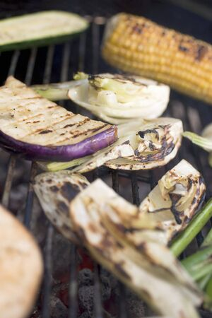 qs: Vegetables on a barbecue