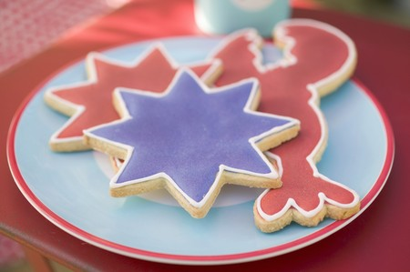figurative: Assorted cookies for the 4th of July (USA)