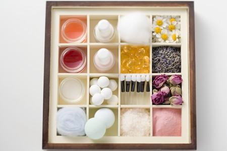 produits de beaut�: Une s�lection de produits et de fleurs beaut� dans le type cas