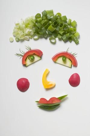 amusing: Amusing vegetable face