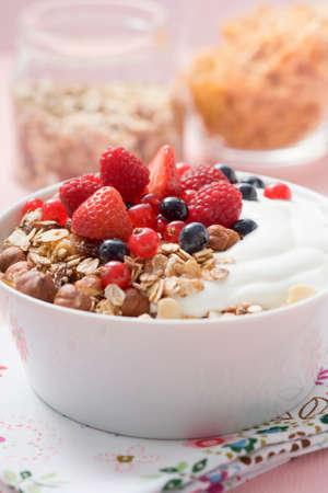 roughage: Muesli with yoghurt and fresh berries