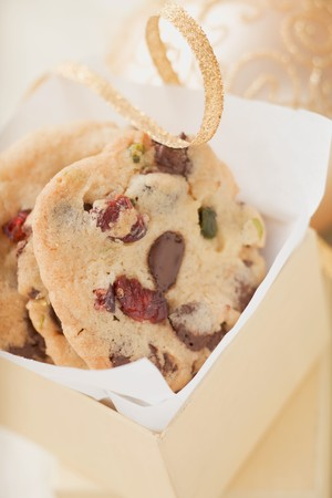vaccinium macrocarpon: Chocolate chip cookies with cranberries to give as a gift LANG_EVOIMAGES