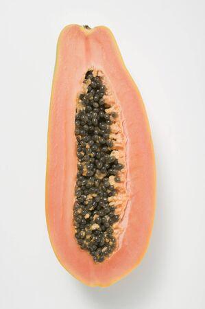 halved: Papaya, halved