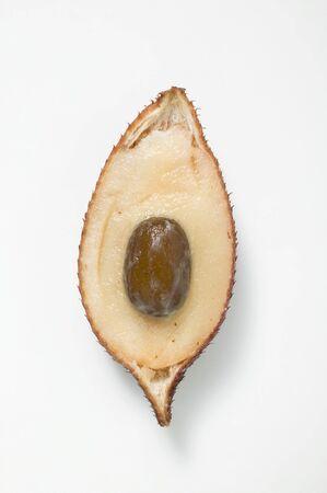 salak: Half a salak fruit (overhead view)