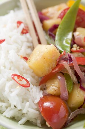 stir up: Fried vegetables with pineapple and rice (Asia)