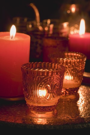 evocative: Evocative Middle Eastern decorations: windlights & candles