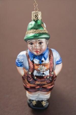 lederhosen: Christmas tree ornament from Bavaria (man in lederhosen)