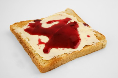 buttered: Buttered toast with jam LANG_EVOIMAGES