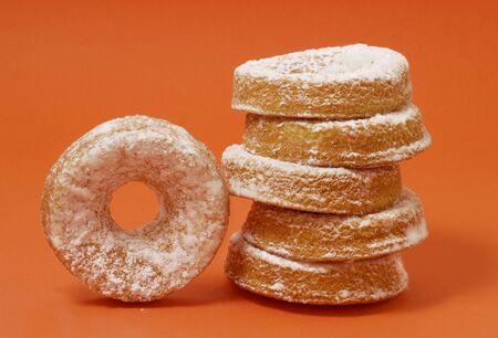 sucre glace: Beignets de sucre glace, empil�s