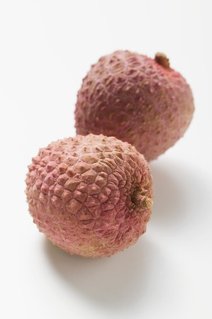 lychees: Two lychees
