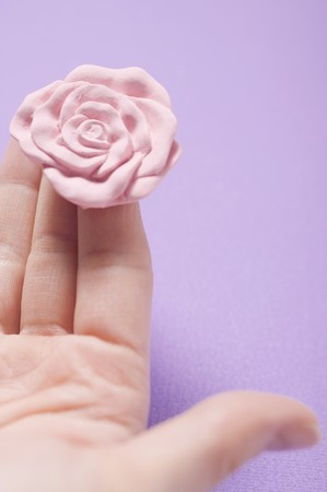 well beings: Rose soap on someones fingers