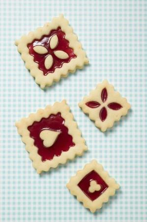 jam biscuits: Quattro quadrati marmellata biscotti