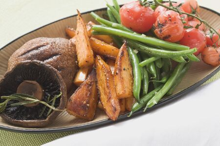 qs: Grilled vegetables with mushrooms