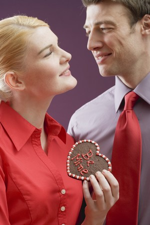 blouses: Couple with chocolate heart with the words Be Mine