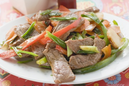 strips away: Stir-fried beef with peppers (Asia) LANG_EVOIMAGES
