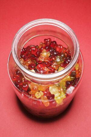 gummi: Gummi sopporta in vaso di archiviazione