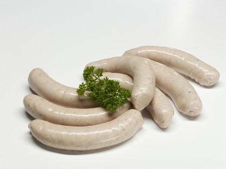 scalded sausage: Seven Weisswurst (white sausages)