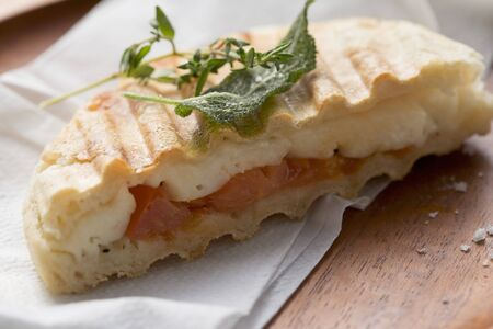 haloumi: Toasted tomato and halloumi sandwich with herbs LANG_EVOIMAGES
