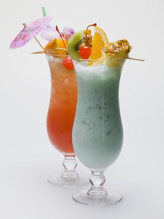 brochetas de frutas: Dos copas del Caribe con brochetas de frutas LANG_EVOIMAGES
