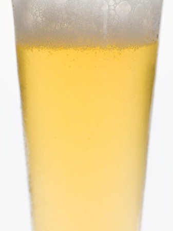 near beer: Glass of lager (detail)