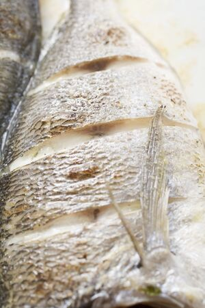 daurade: R�ti de daurade (close-up) LANG_EVOIMAGES