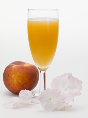 champers: Peach and sparkling wine cocktail