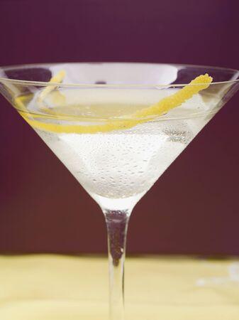 zest: Martini with lemon zest