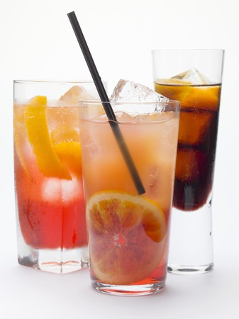 bitter orange: Campari Soda, Campari Orange, bitter schnapps with ice cubes