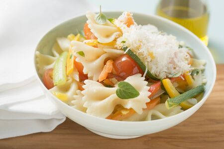 primavera: Farfalle primavera with vegetables and grated cheese LANG_EVOIMAGES