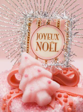 petit: Petit four for Christmas (close-up)