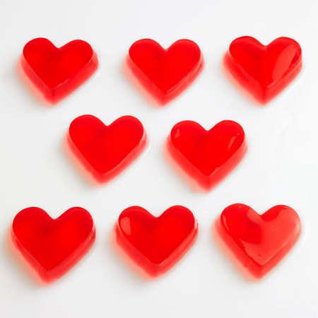 raspberry jelly: Red raspberry jelly hearts