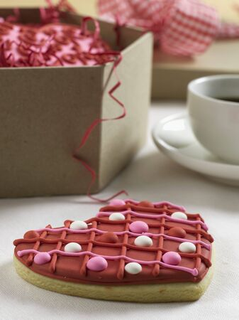 dragees: Heart Valentines Day Cookie