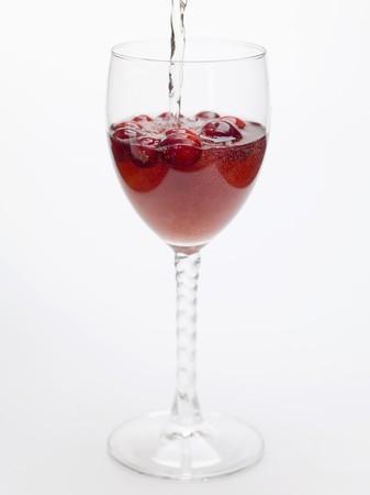 vaccinium macrocarpon: Adding water to cranberry drink