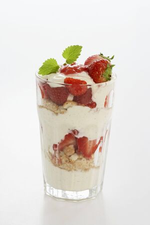 trifle: Strawberry mascarpone trifle
