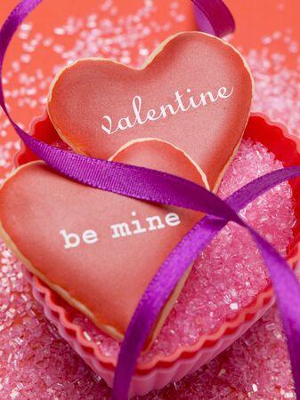 glazes: Vanilla hearts for Valentines Day