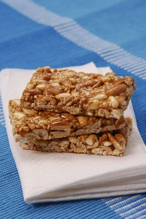 pine kernels: Three bars of nut brittle