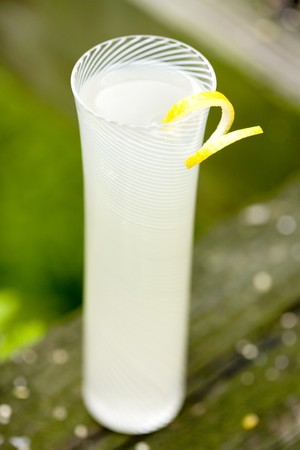 soda pops: Tall Glass of Lemonade with Lemon Twist LANG_EVOIMAGES