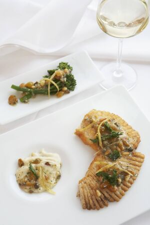 pine kernels: Roasted John Dory with Citrus Pine Nut Topping