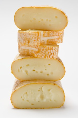cheeses: Cows milk cheeses, stacked LANG_EVOIMAGES