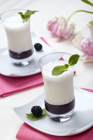 brambleberries: Blackberry Puree with Vanilla Flavoured Buttermilk LANG_EVOIMAGES
