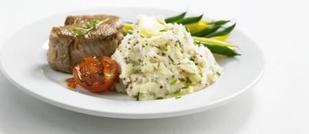 wholegrain mustard: Pork fillet and mashed potato with wholegrain mustard