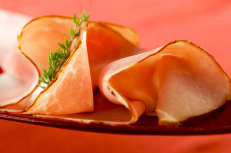 aaa: Two slices of smoked ham LANG_EVOIMAGES